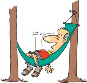 Man in hammock